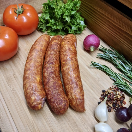 Cheddar BBQ Smoked Sausage ( Per 100g)