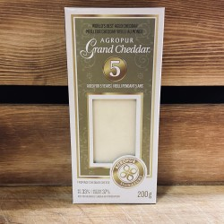 Agropur Grand Cheddar- Fromage Cheddar Cheese,Aged for 5 Years (200g)
