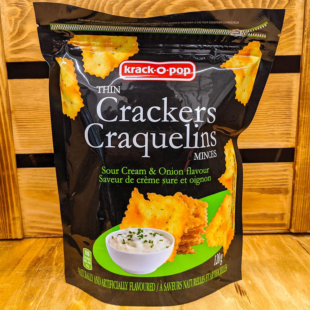 Krack-o-Pop - Thin Crackers (Sour Cream & Onion) (120g)