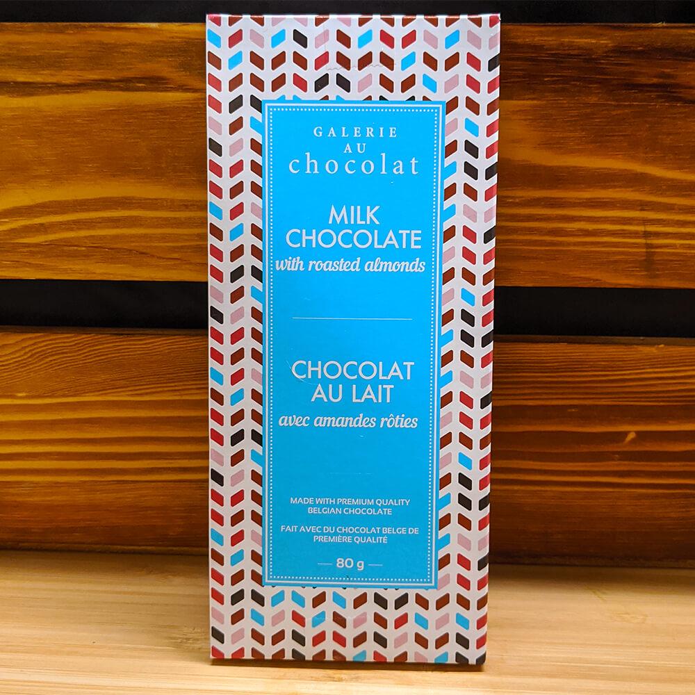 Galerie au Chocolat - Milk Chocolate with Roasted Almonds (80g)
