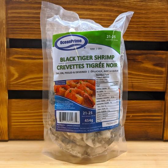 Black Tiger Shrimp (Raw) (21-25 Count) (454g)