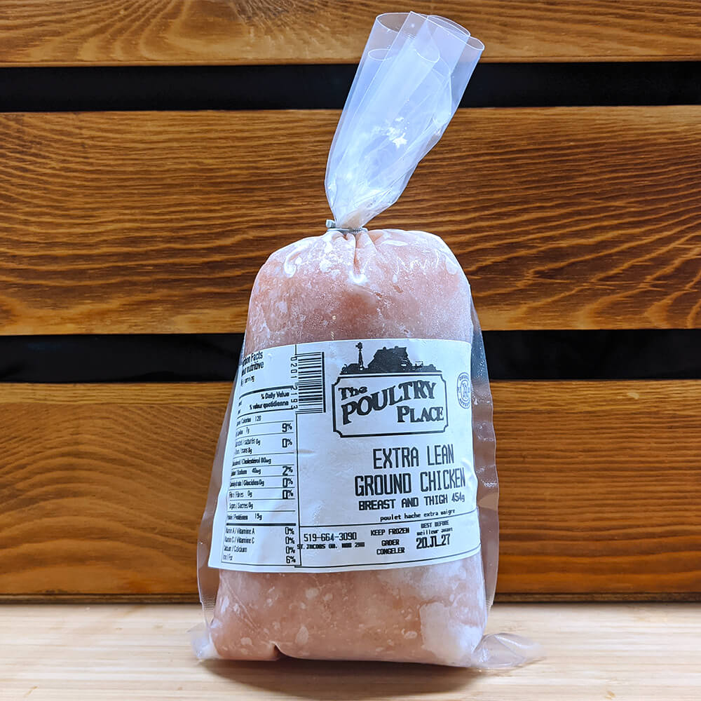 The Poultry Place - Extra Lean Ground Chicken Breast & Thigh (454g)