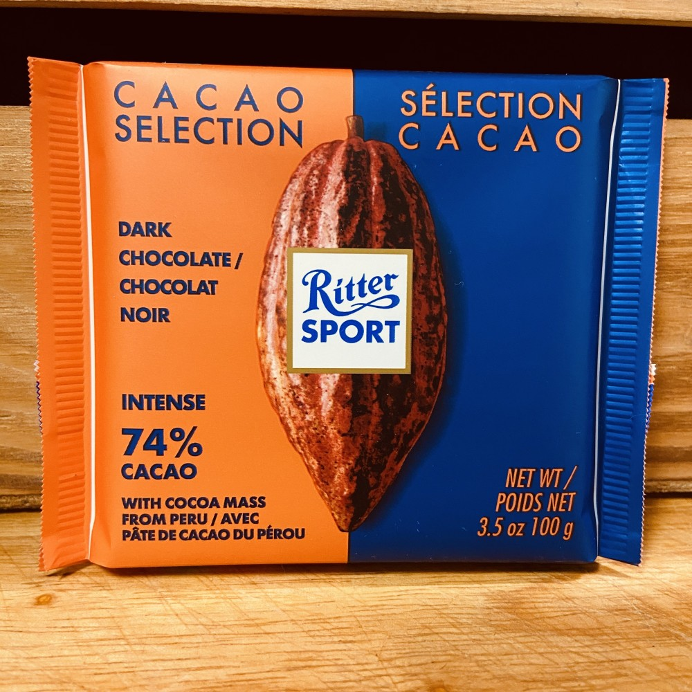 Ritter Sport- Cacao Selection,Dark Chocolate (100g)