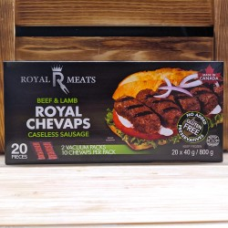 Beef and Lamb Royal Chevaps Caseless Sausage (20 pieces)